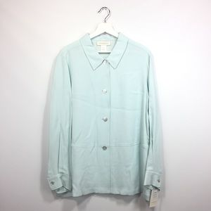 New Susan Bristol XL Shirt Mint Fresh Blue Button